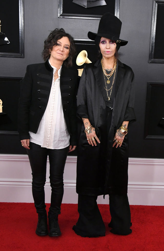 Sara Gilbert and Linda Perry (Rattend the 61st Annual Grammy Awards at Staples Center. (Photo by Jon Kopaloff/Getty Images)