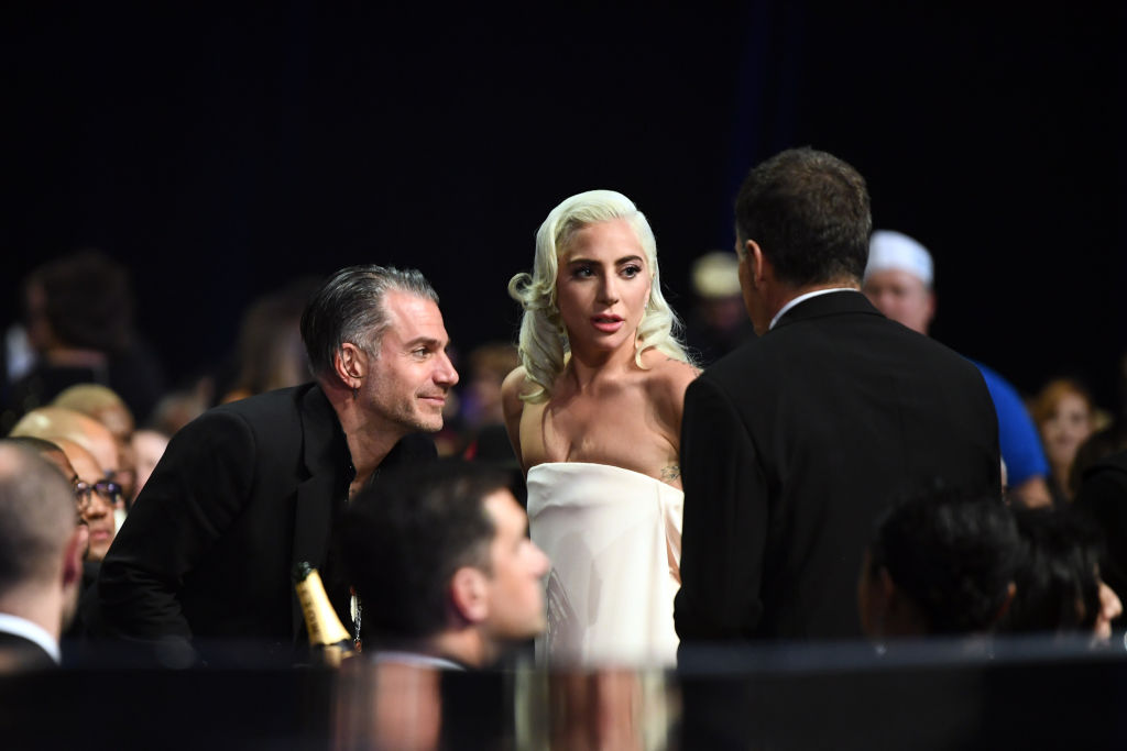 Christian Carino (L) and Lady Gaga attend the 24th annual Critics' Choice Awards at Barker Hangar on January 13, 2019 in Santa Monica, California. (Photo by Emma McIntyre/Getty Images for The Critics' Choice Awards)