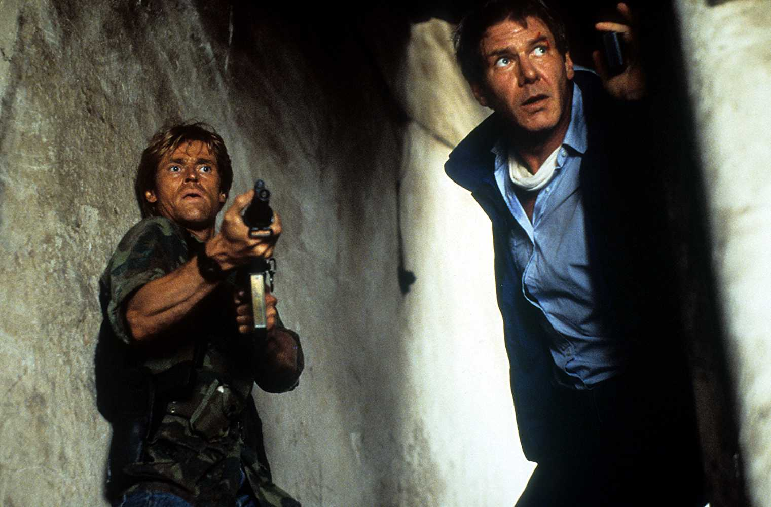 Willem Dafoe as John Clark, alongside Harrison Ford as Jack Ryan, in the 1994 movie 'Clear and Present Danger'. (IMDb)