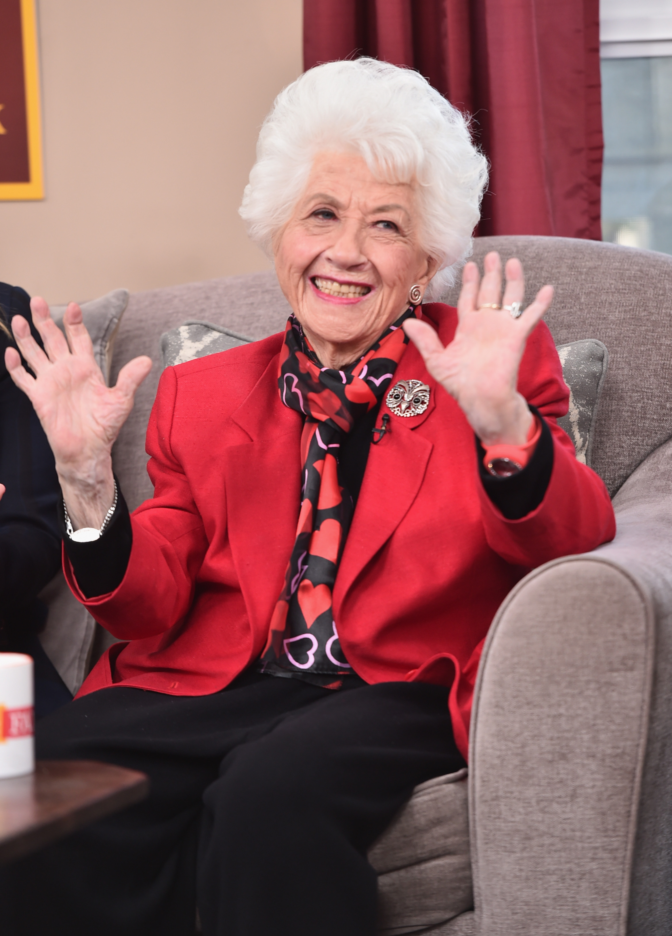 Actress Charlotte Rae attends Hallmark's Home and Family 'Facts Of Life Reunion' at Universal Studios Backlot on February 12, 2016 in Universal City, California.