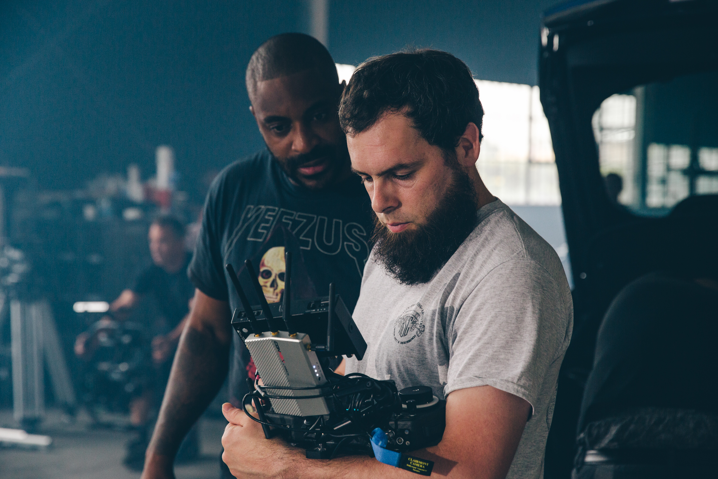 Brandon Riley (R) is the cinematographer for 'Slice', starring Chance the Rapper in his first full-length feature film. (Photo Credit: Impact 24)