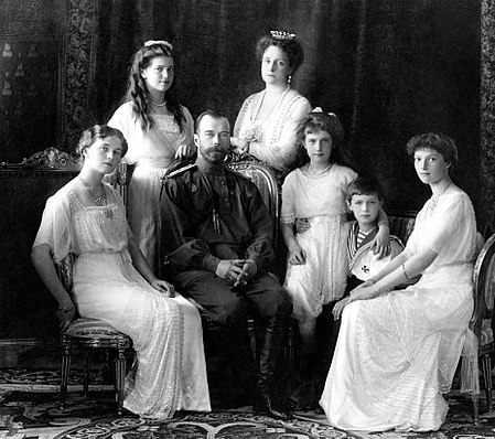 The Romanov family (Wikipedia)