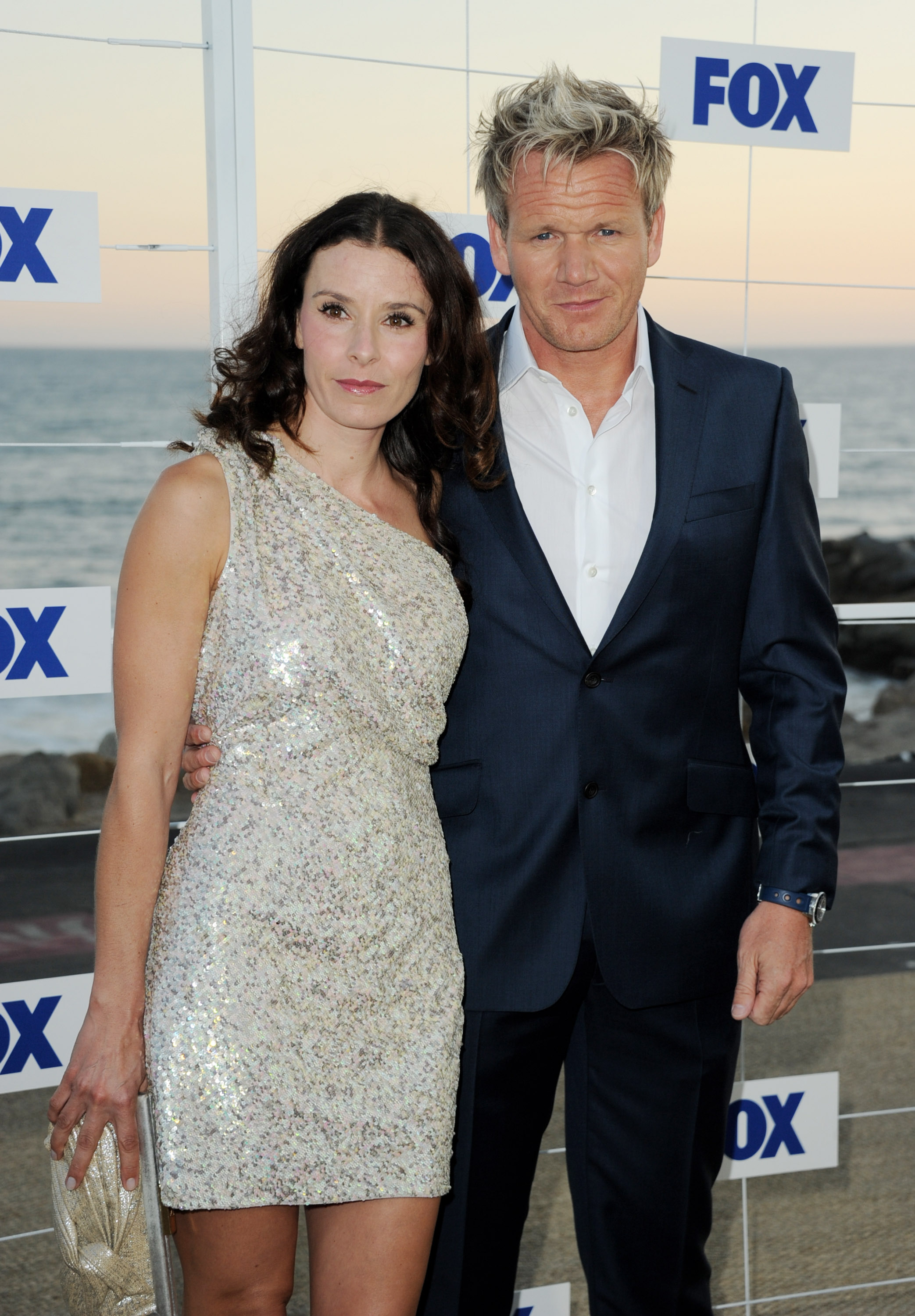 Masterchef Gordon Ramsay and his wife Tana arrive at the FOX All-Star party at Gladstones on August 5, 2011 in Pacific Palisades, California. (Photo by Kevin Winter/Getty Images)