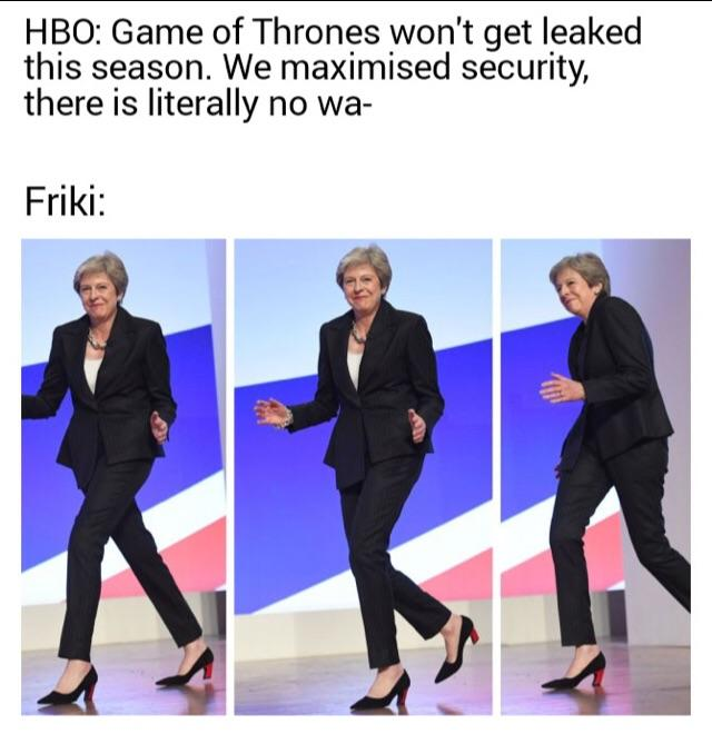 This meme was posted by a user on Reddit after the leak of episode 1, season 8 of 'Game of Thrones'.