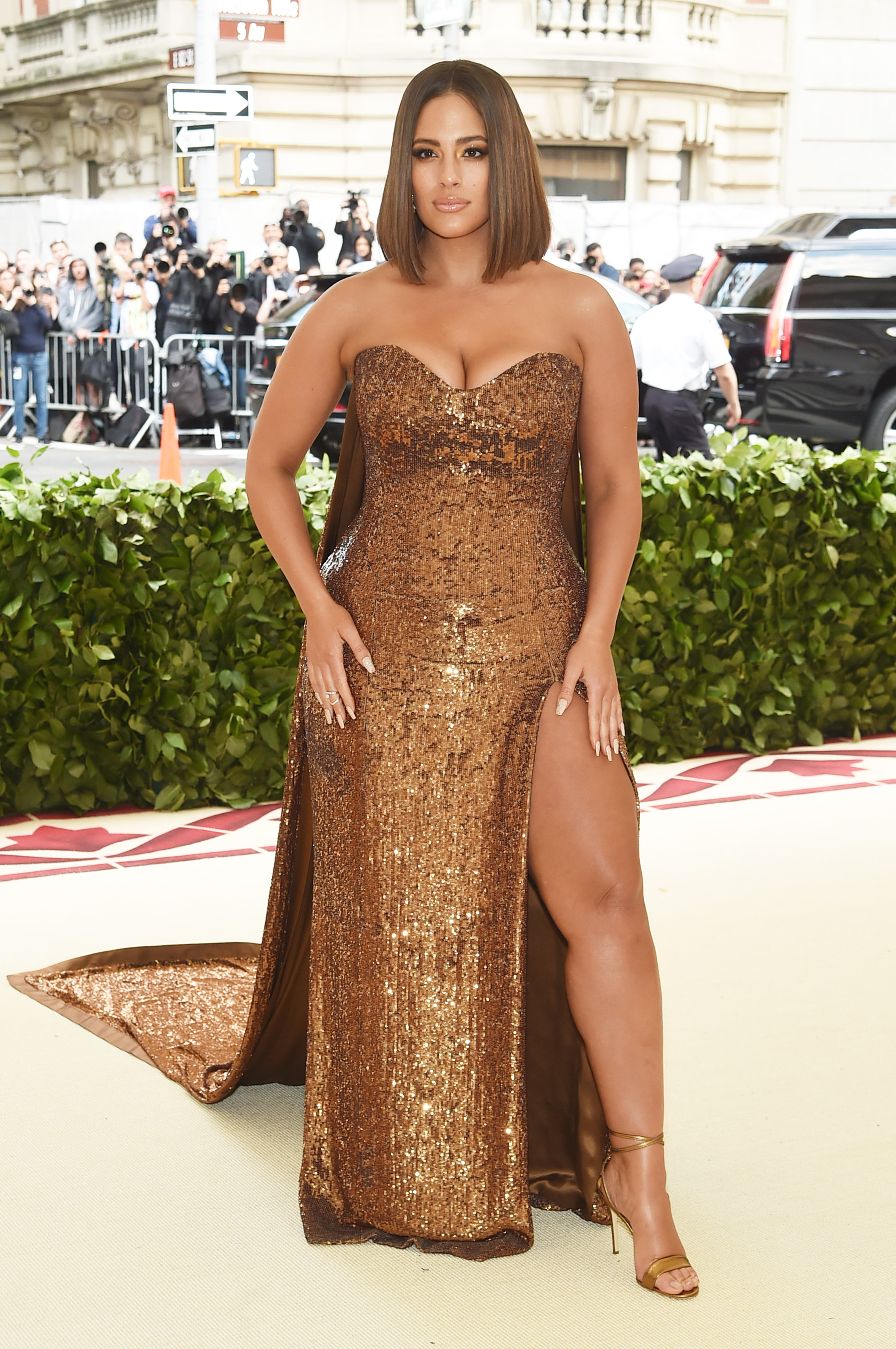 Ashley Graham attends the Heavenly Bodies: Fashion & The Catholic Imagination Costume Institute Gala at The Metropolitan Museum of Art on May 7, 2018 in New York City.