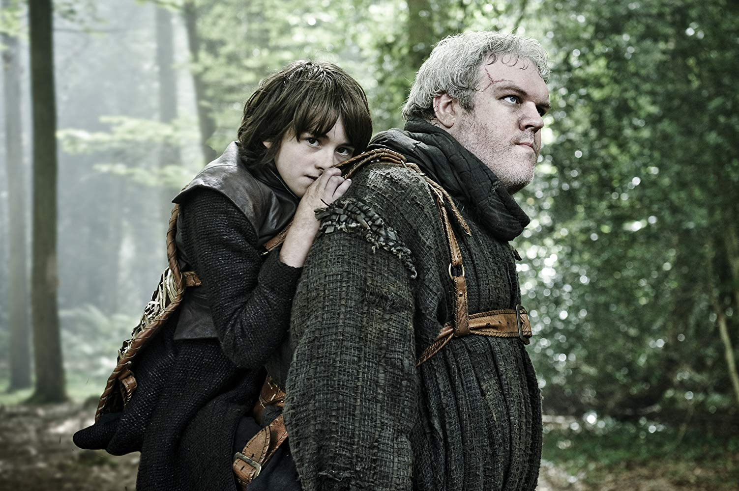 Bran Stark being carried by Hodor. (Source: IMDB)