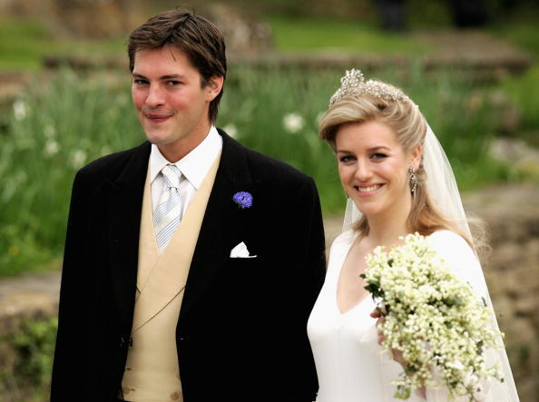 Harry Lopes and Laura Lopes on their wedding day which took place on May 6, 2006 in Wiltshire, England (Source: Getty Images)