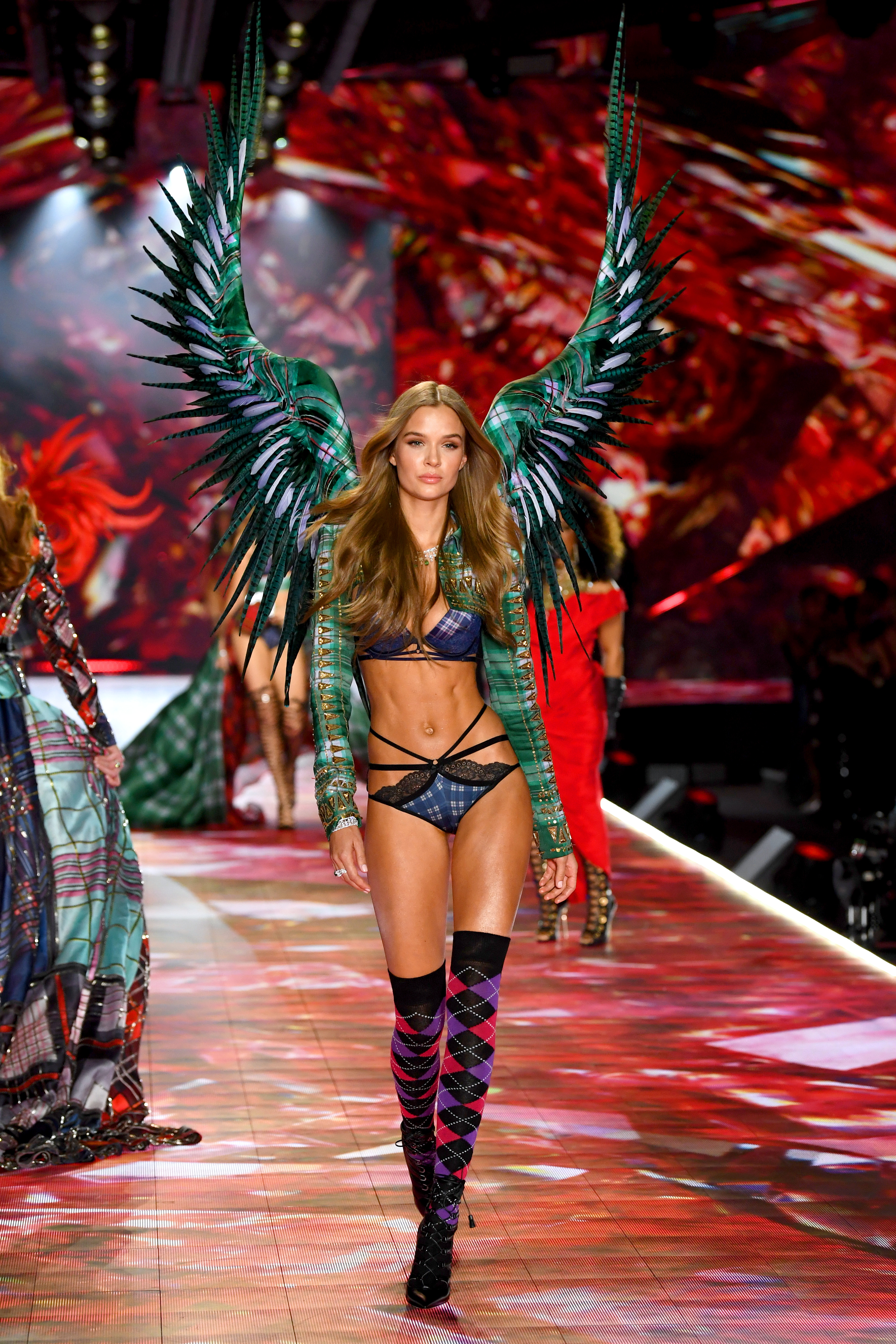 Josephine Skriver walks the runway during the 2018 Victoria's Secret Fashion Show at Pier 94 on November 8, 2018, in New York City. (Getty Images)