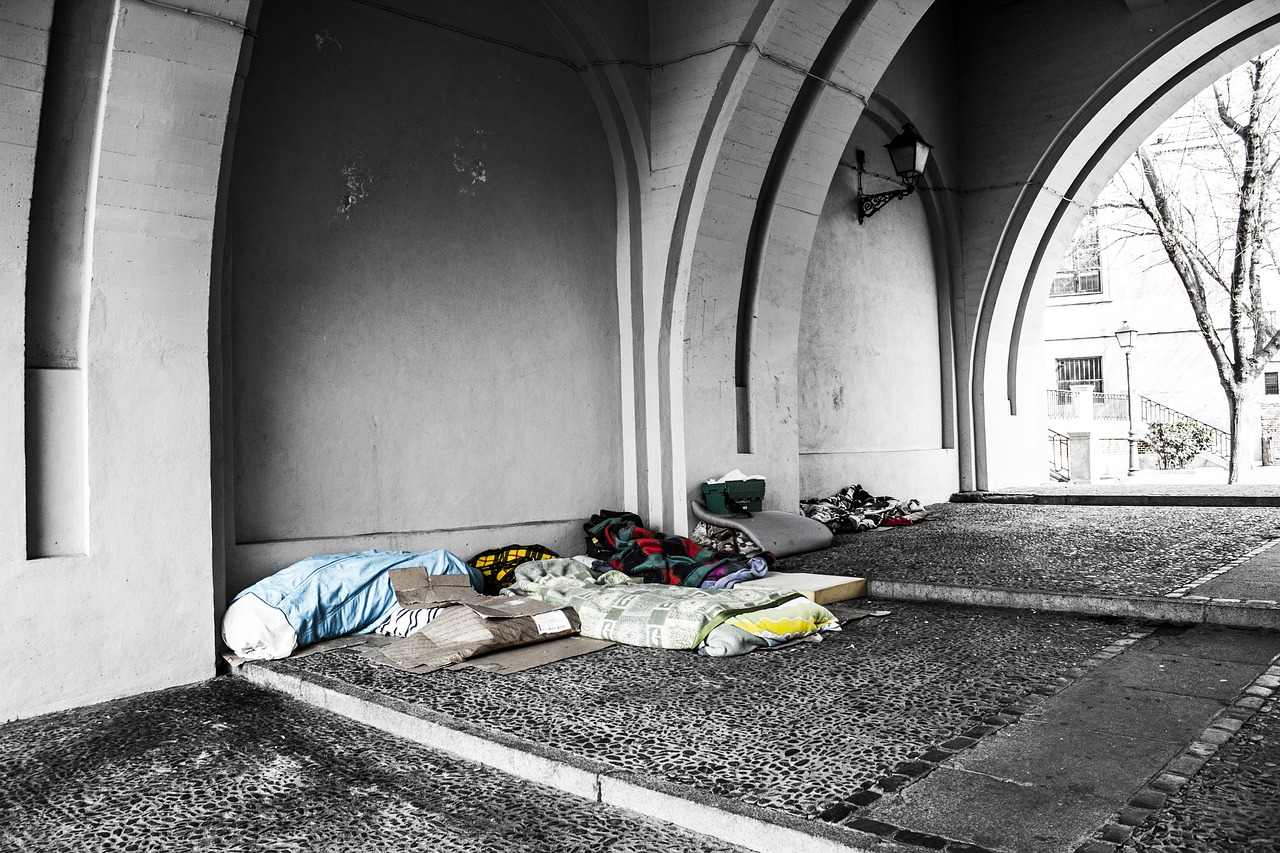 Homeless people taking shelter under bridges. (Source: Getty Images)