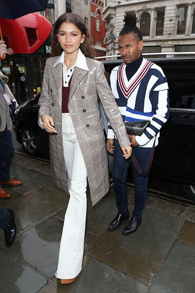 Zendaya arrives at the Tommy Hilfiger Regents store for the Tommy Hilfiger X Zendaya event on March 03, 2019 in London, England. (Photo by Neil Mockford/GC Images)