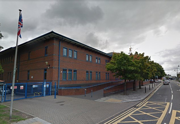 "The ""really drunk"" victim was partying with her friends in Revolution bar before moving on to The Kiln, the Stoke-on-Trent Crown Court (pictured) heard. (Google Maps)"