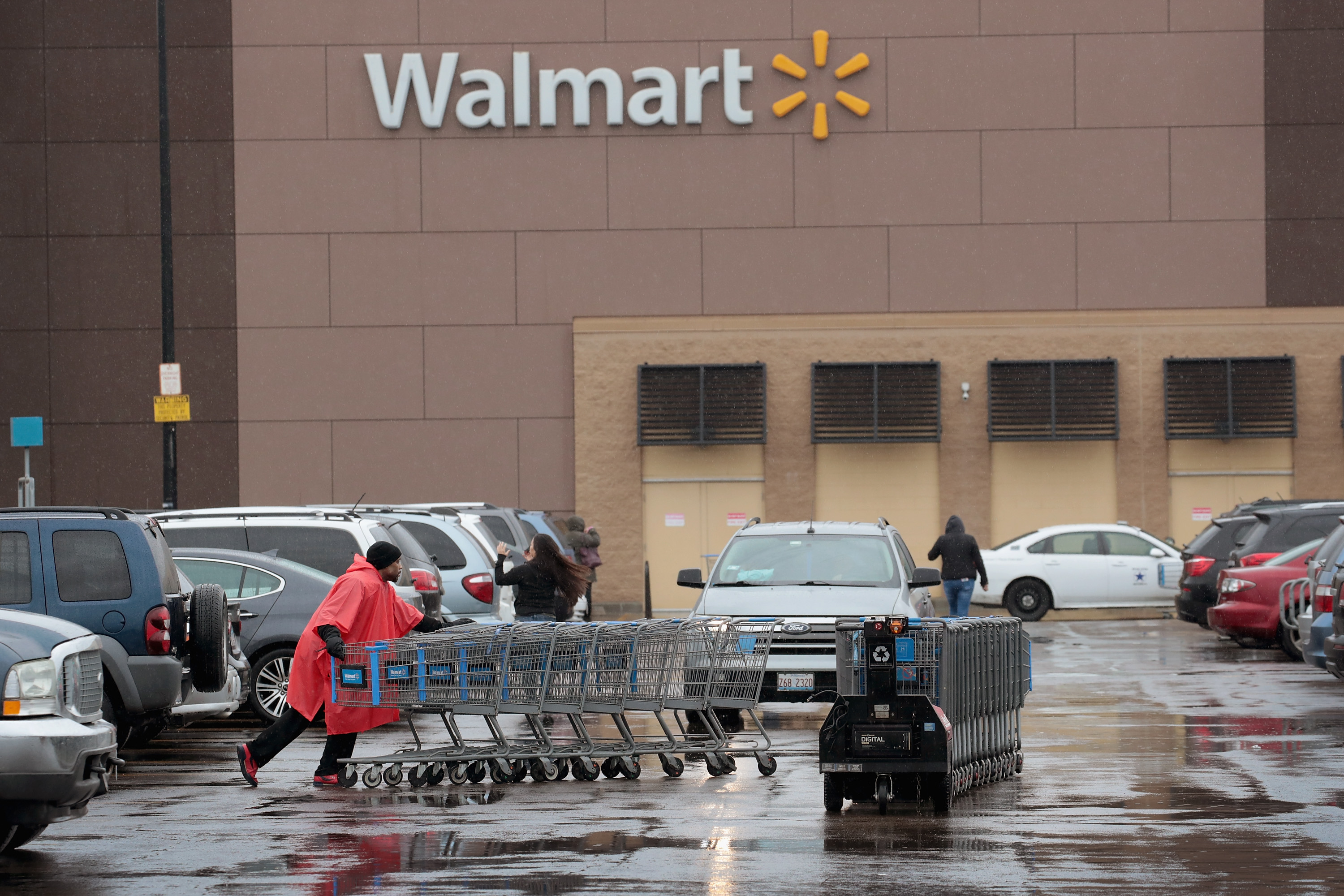 Walmart security checked the CCTV camera to confirm the mother's allegations.