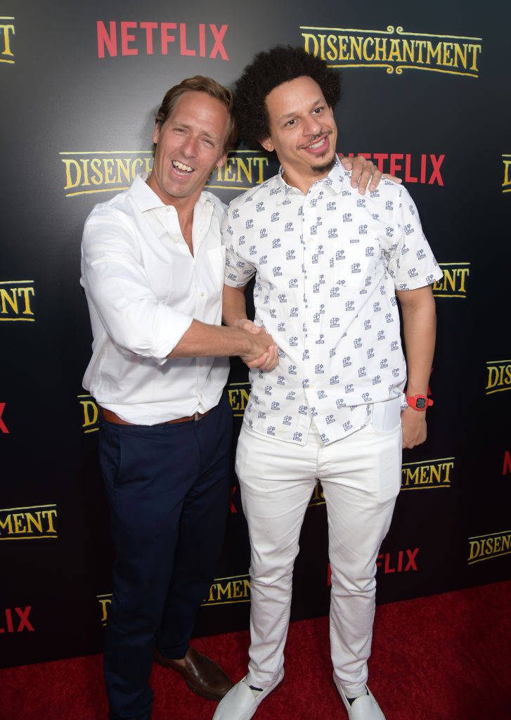 Nat Faxon and Eric Andre attend the screening of Netflix's 'Disenchantment' at the Vista Theatre on August 14, 2018 in Los Angeles, California. (Photo by Kevin Winter/Getty Images)