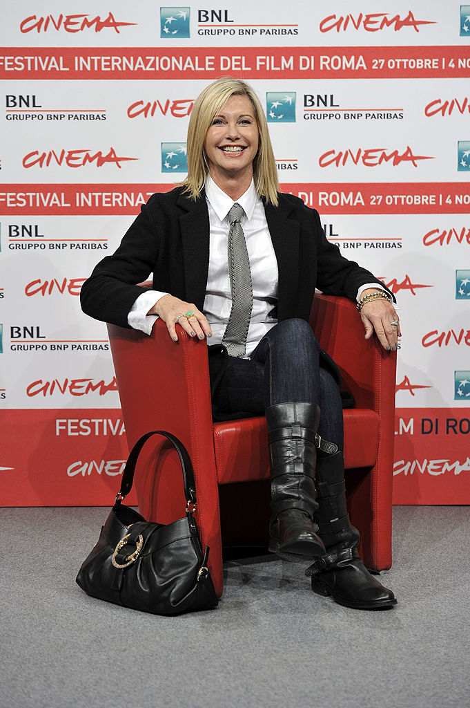Actress Olivia Newton-John attends the 'A Few Best Men' photocall during the 6th International Rome Film Festival on October 28, 2011 in Rome, Italy. (Photo by Gareth Cattermole/Getty Images)