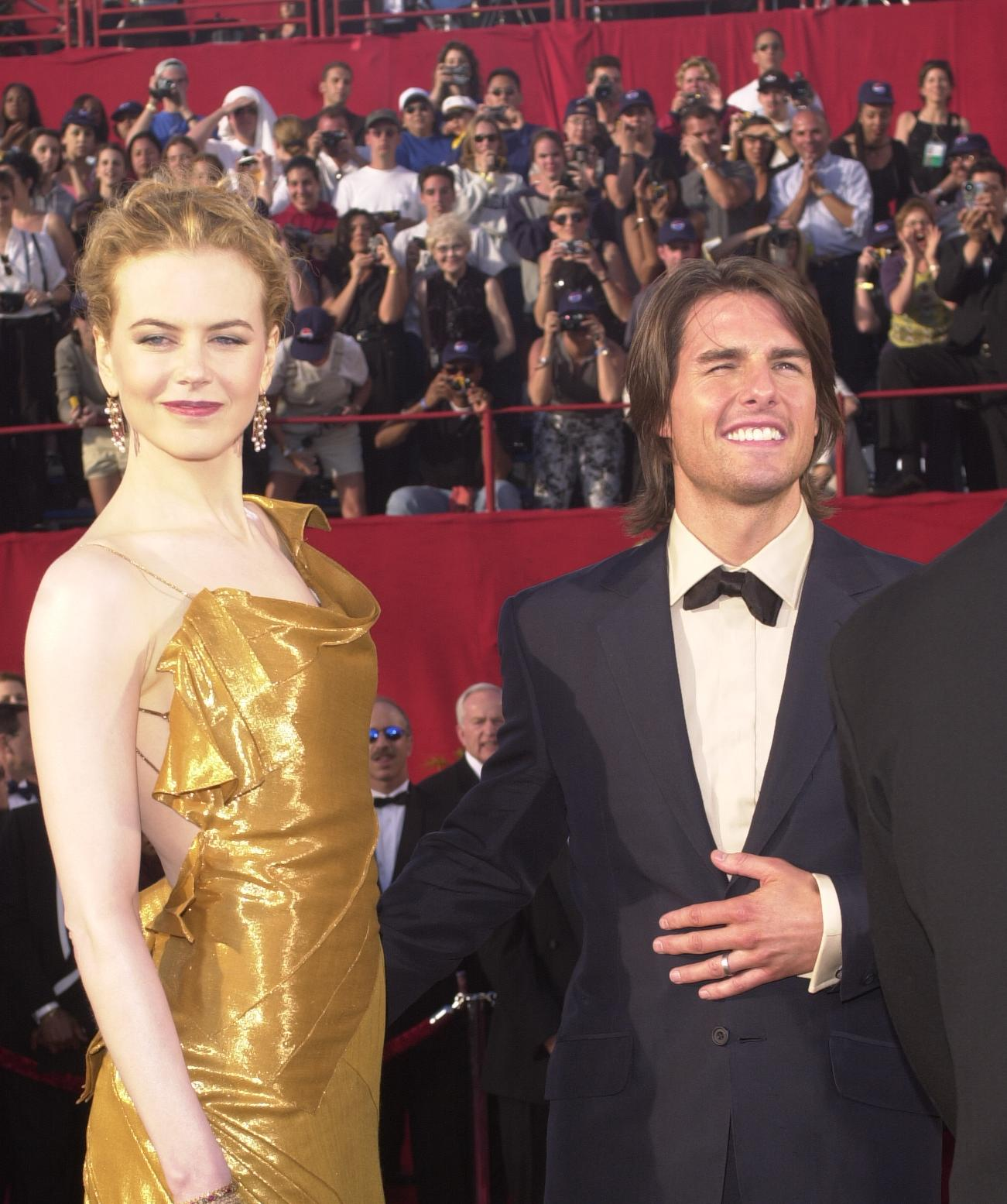 Tom Cruise and Nicole Kidman arrive at the 72nd Annual Academy Awards on March 26, 2000, in Los Angeles, CA. Cruise and Kidman, one of the Hollywood's best-known couples, announced February 5, 2001, that they are separating after more than a decade of marriage (Source: Dan Callister/Newsmakers)