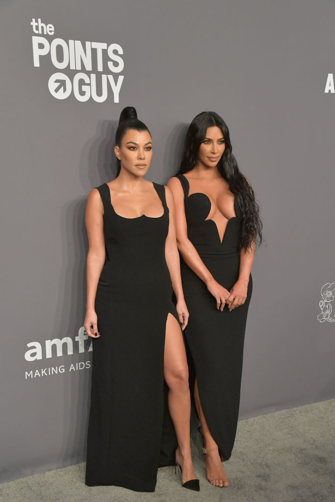 Kourtney Kardashian and Kim Kardashian West attend the amfAR New York Gala 2019 at Cipriani Wall Street on February 6, 2019, in New York City. (Photo by Michael Loccisano/Wire Image)