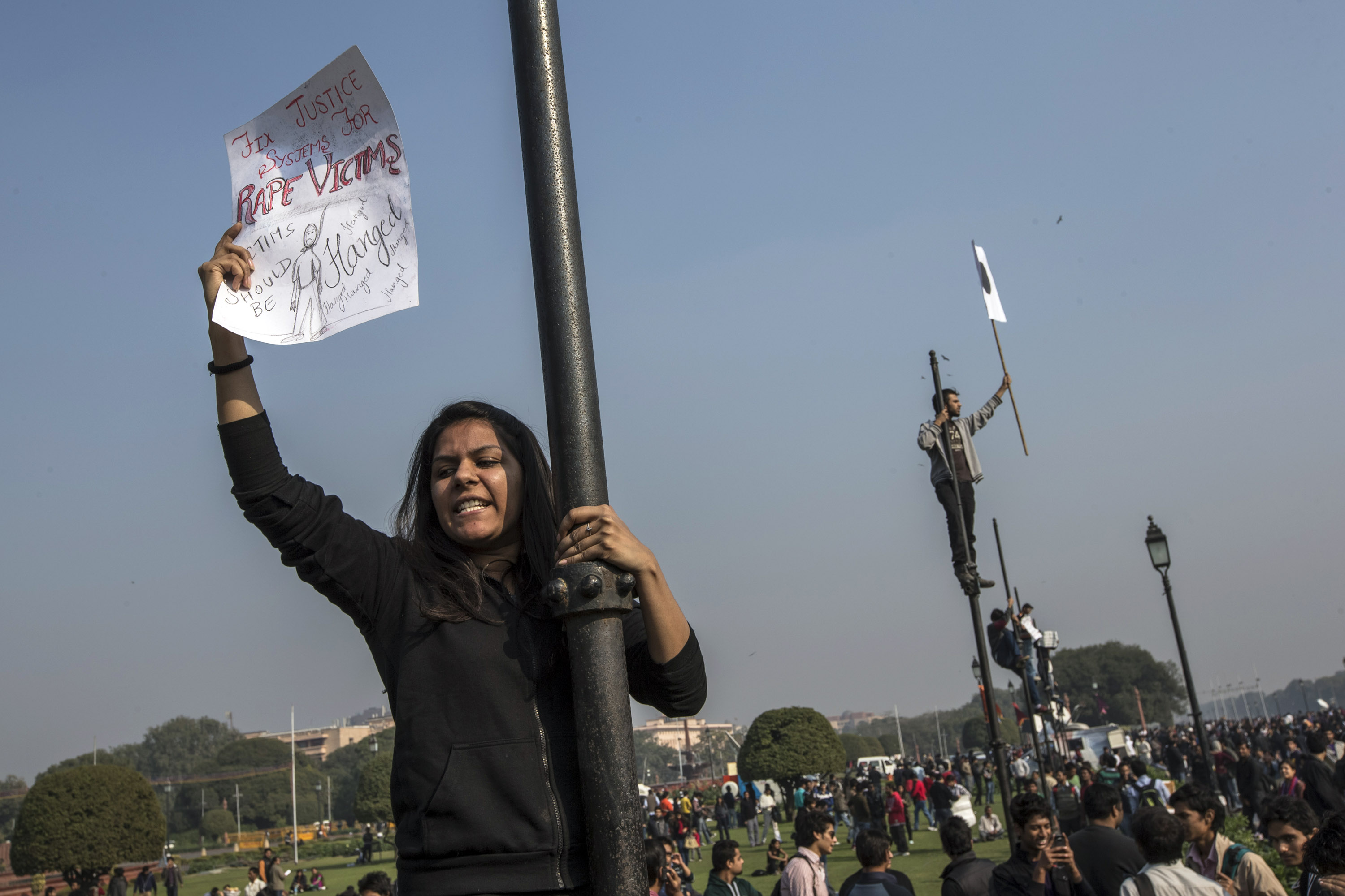(Picture for representative purposes only) A student voice her opinion during a rally protesting India's high rates of sex crime (Source: Daniel Berehulak/Getty Images)