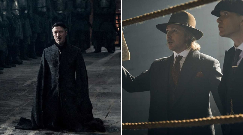 Aiden Gillen in 'GOT' and 'Peaky Blinders'. (Source: IMDB)