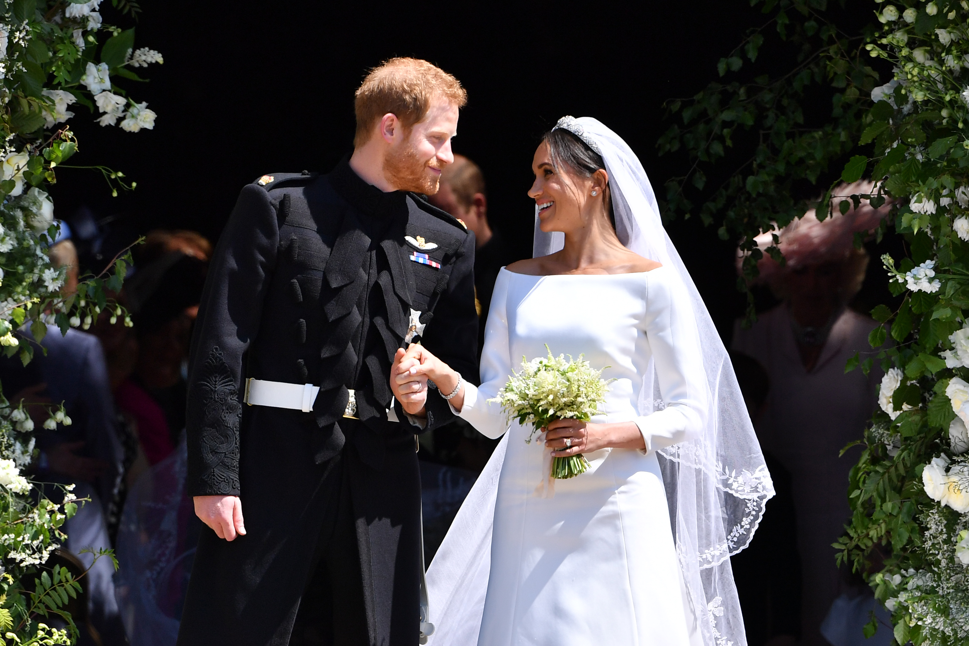 Prince Harry, Duke of Sussex and his wife Meghan, Duchess of Sussex (Source: Getty Images)