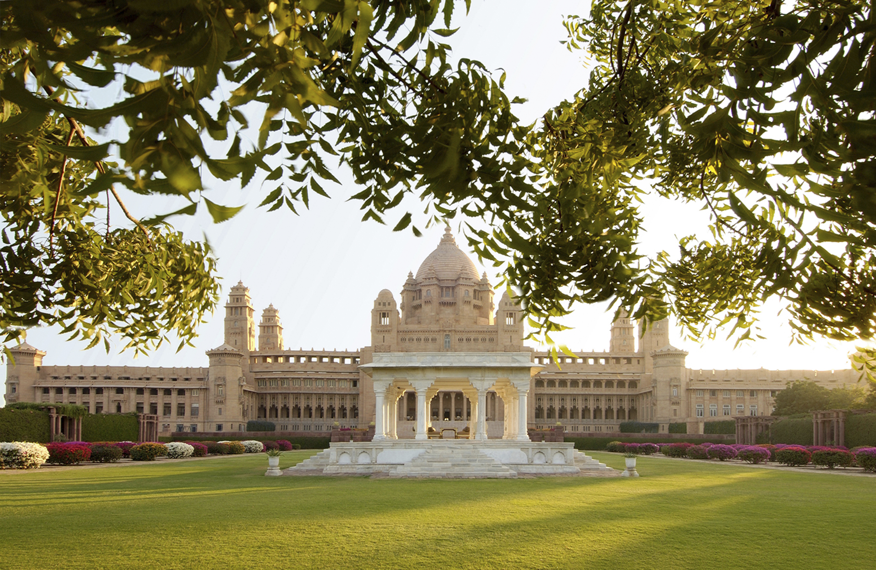 A general view of the Umaid Bhawan Palace where the Indian wedding of Priyanka Chopra and Nick Jonas took place. (Photo by Taj Hotel Resorts and Palaces via Getty Images)