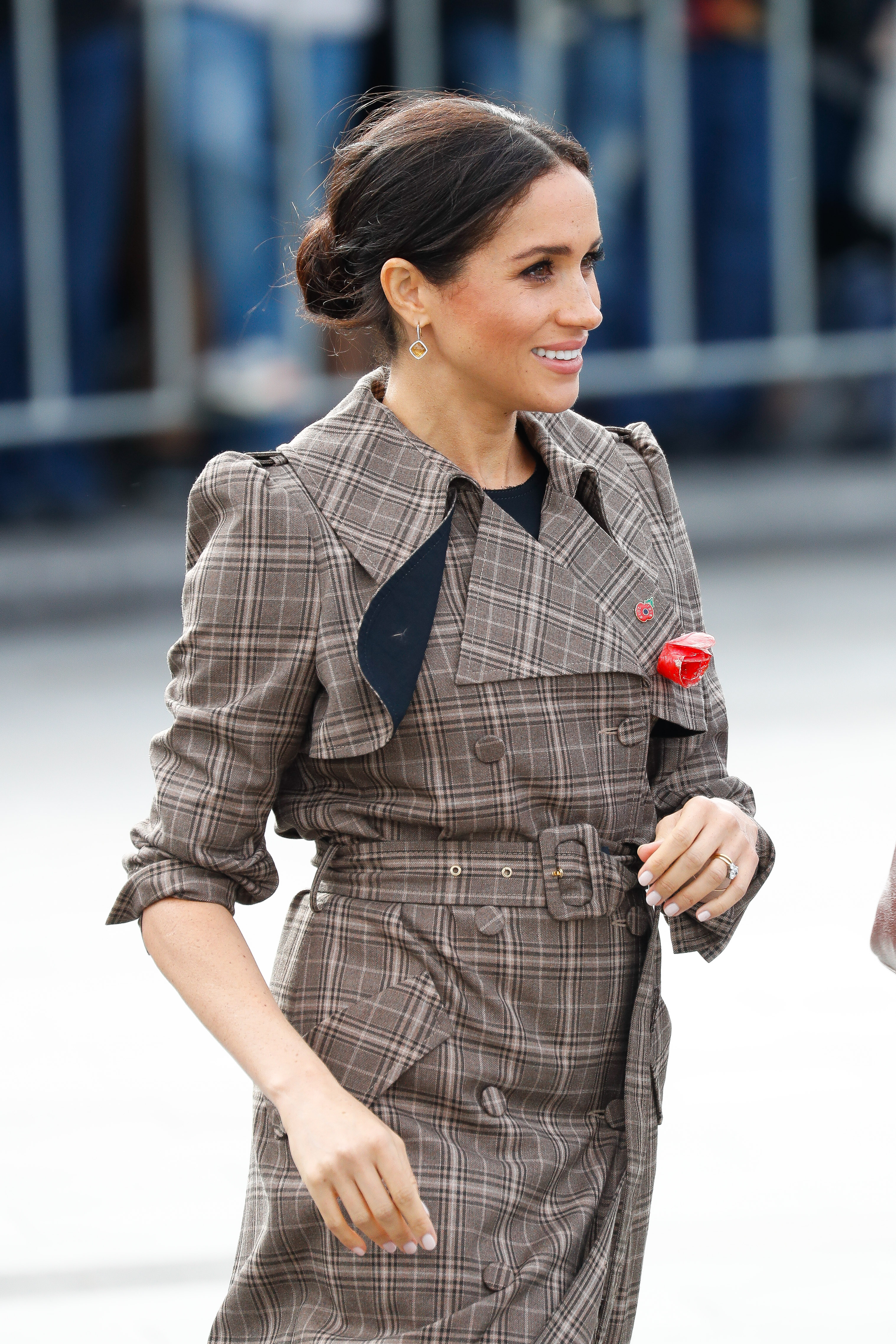 Meghan, Duchess of Sussex, attends the National War Memorial on October 28, 2018, in Wellington, New Zealand. (Getty Images)
