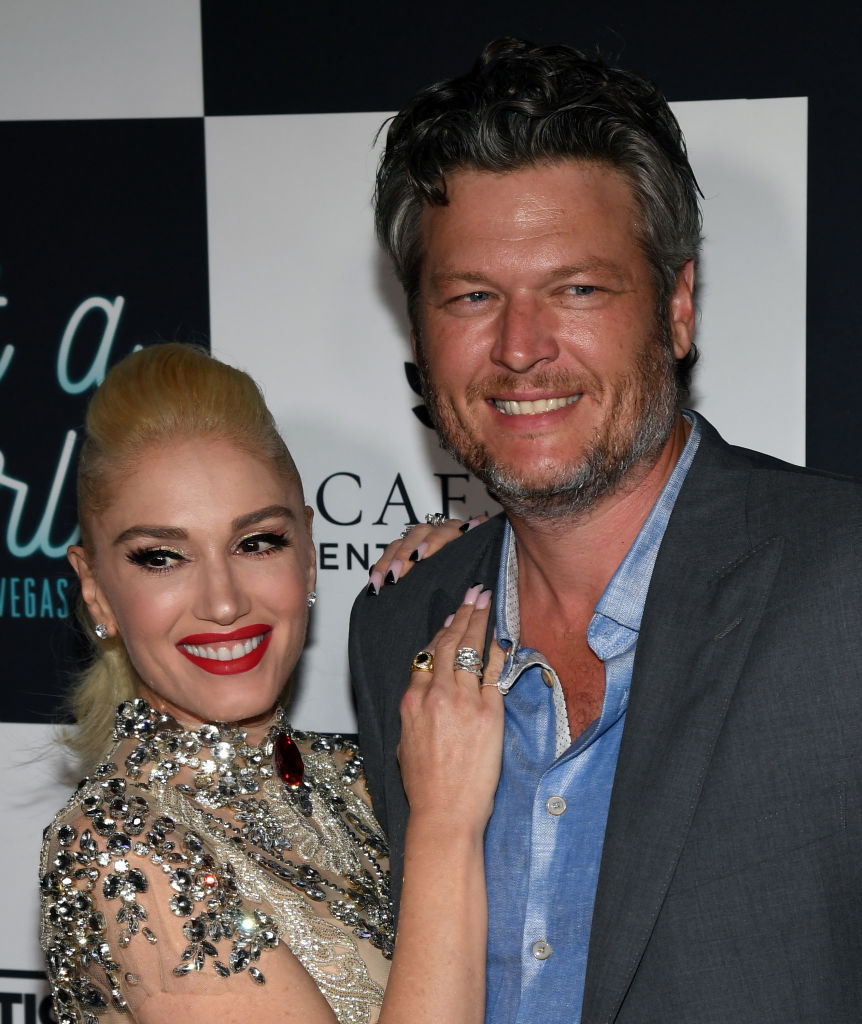 Singer Gwen Stefani (L) and recording artist Blake Shelton attend the grand opening of her 'Gwen Stefani - Just a Girl' residency at Planet Hollywood Resort & Casino on June 28, 2018 in Las Vegas, Nevada. (Photo by Ethan Miller/Getty Images)