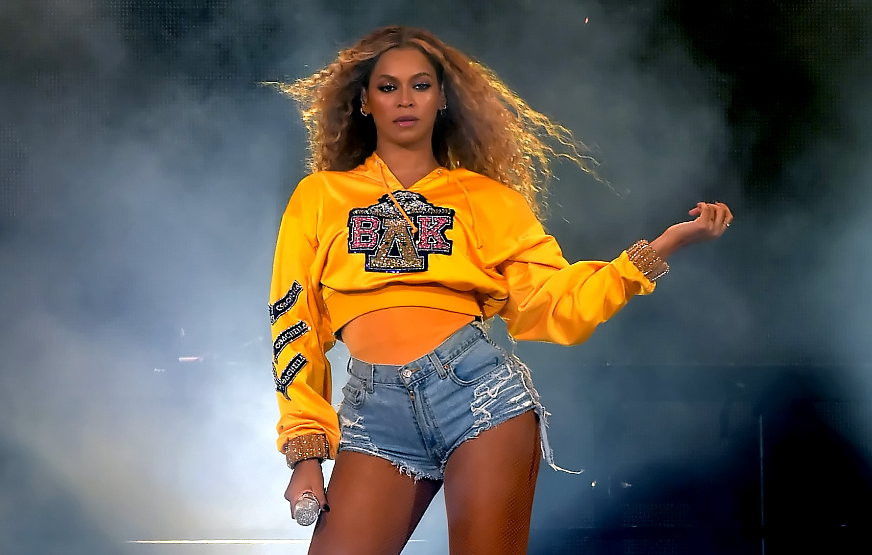 Beyonce Knowles performs onstage during 2018 Coachella Valley Music And Arts Festival Weekend 1 at the Empire Polo Field on April 14, 2018, in Indio, California. (Getty Images)