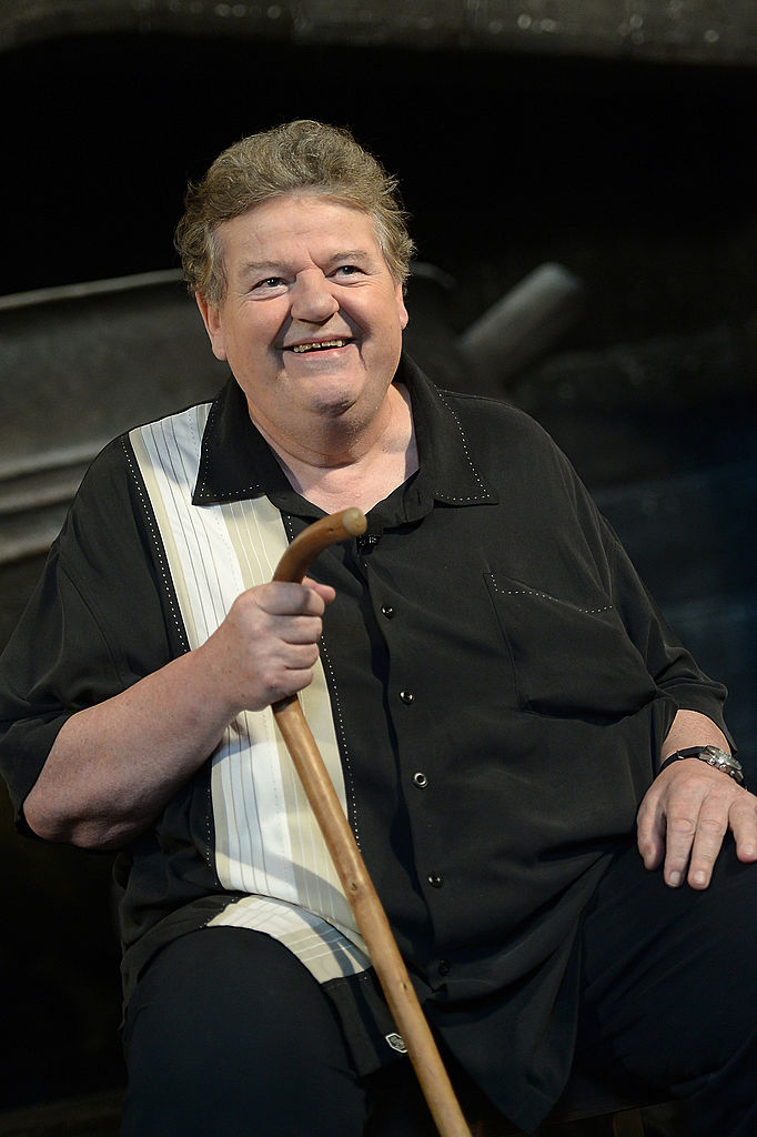 Robbie Coltrane is interviewed at The Wizarding World Of Harry Potter Diagon Alley at Universal Orlando on June 19, 2014, in Orlando, Florida (Source: Gustavo Caballero/Getty Images)