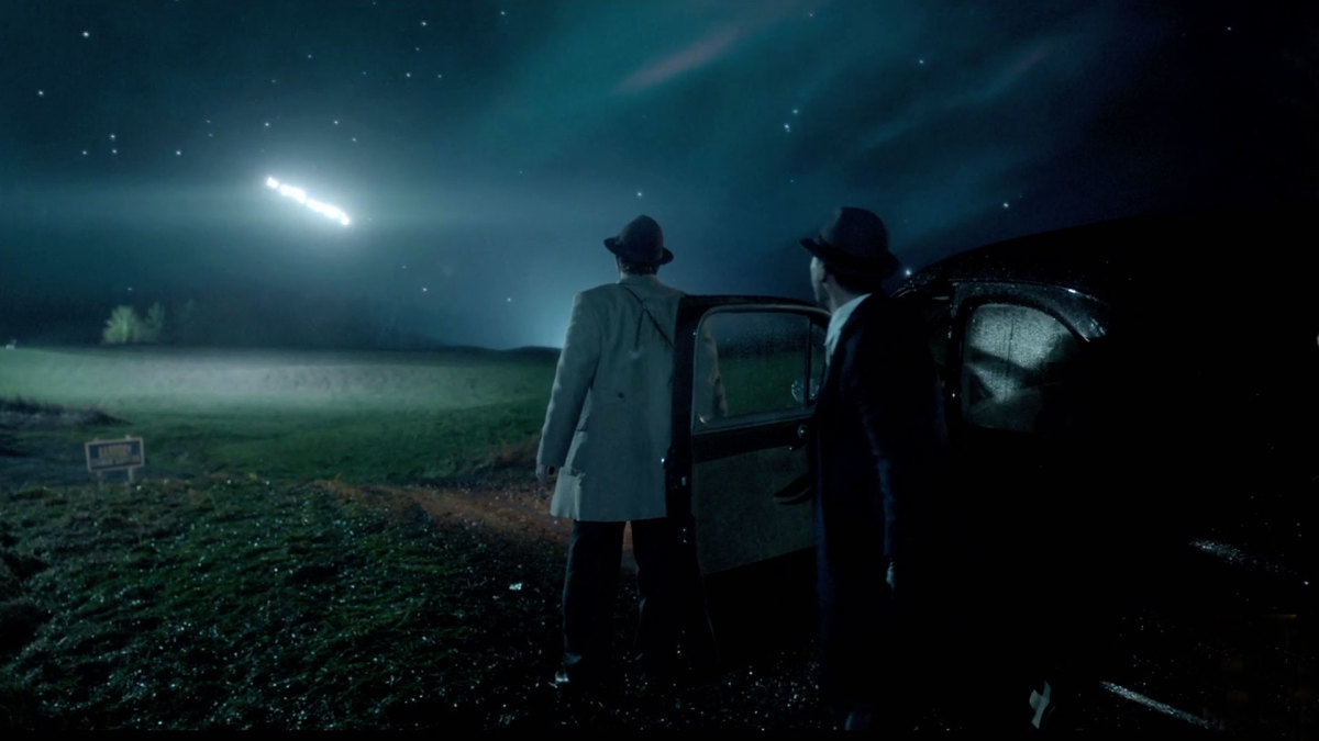 Episode 3 will see the strange chase the mysterious lights that hit Texas sky. (A+E Networks)