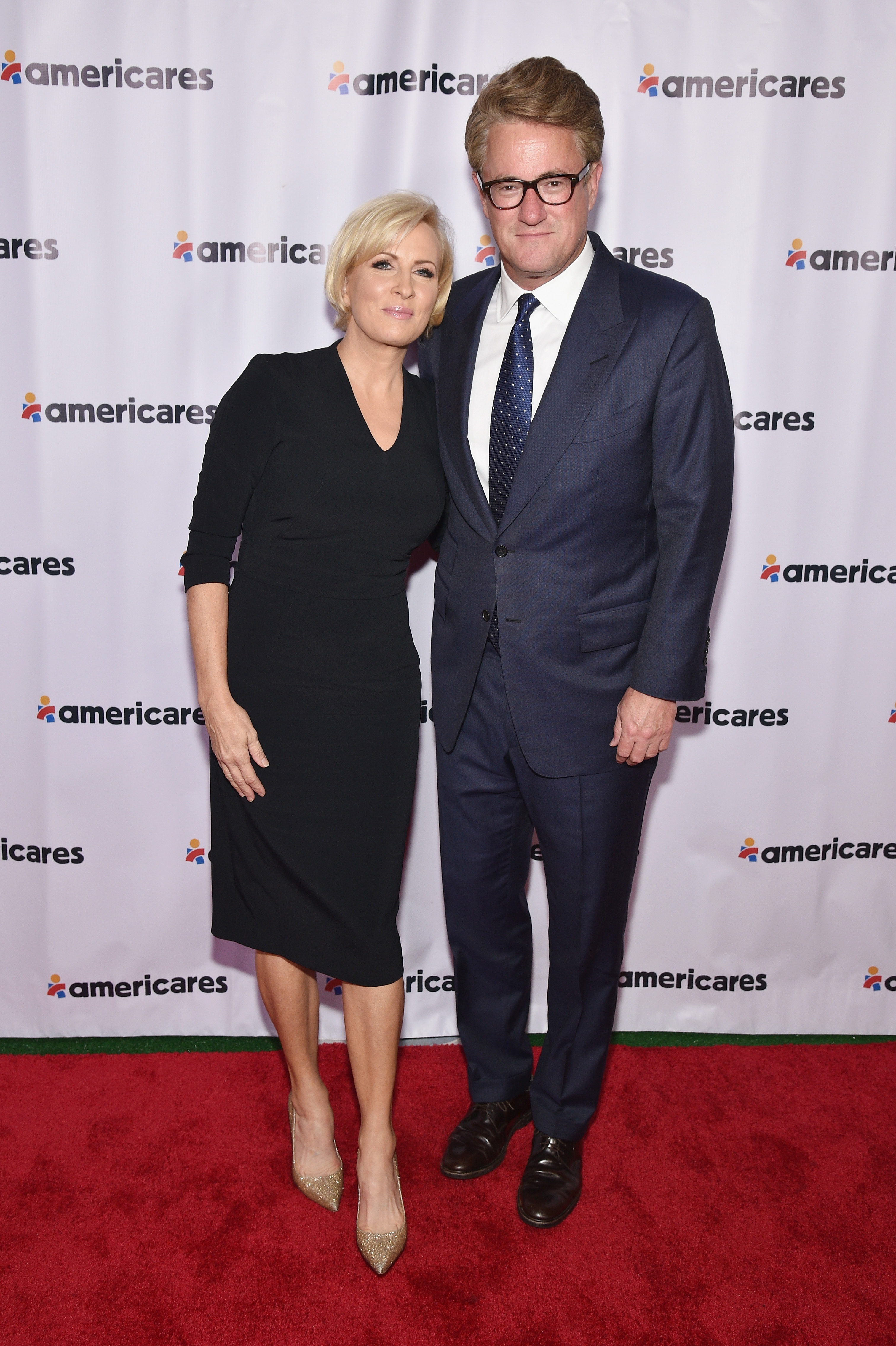 Co-hosts Mika Brzezinski (L) and Joe Scarborough attend the 2017 Americares Airlift Benefit on October 14, 2017 in Armonk, New York. (Photo by Bryan Bedder/Getty Images for Americares)
