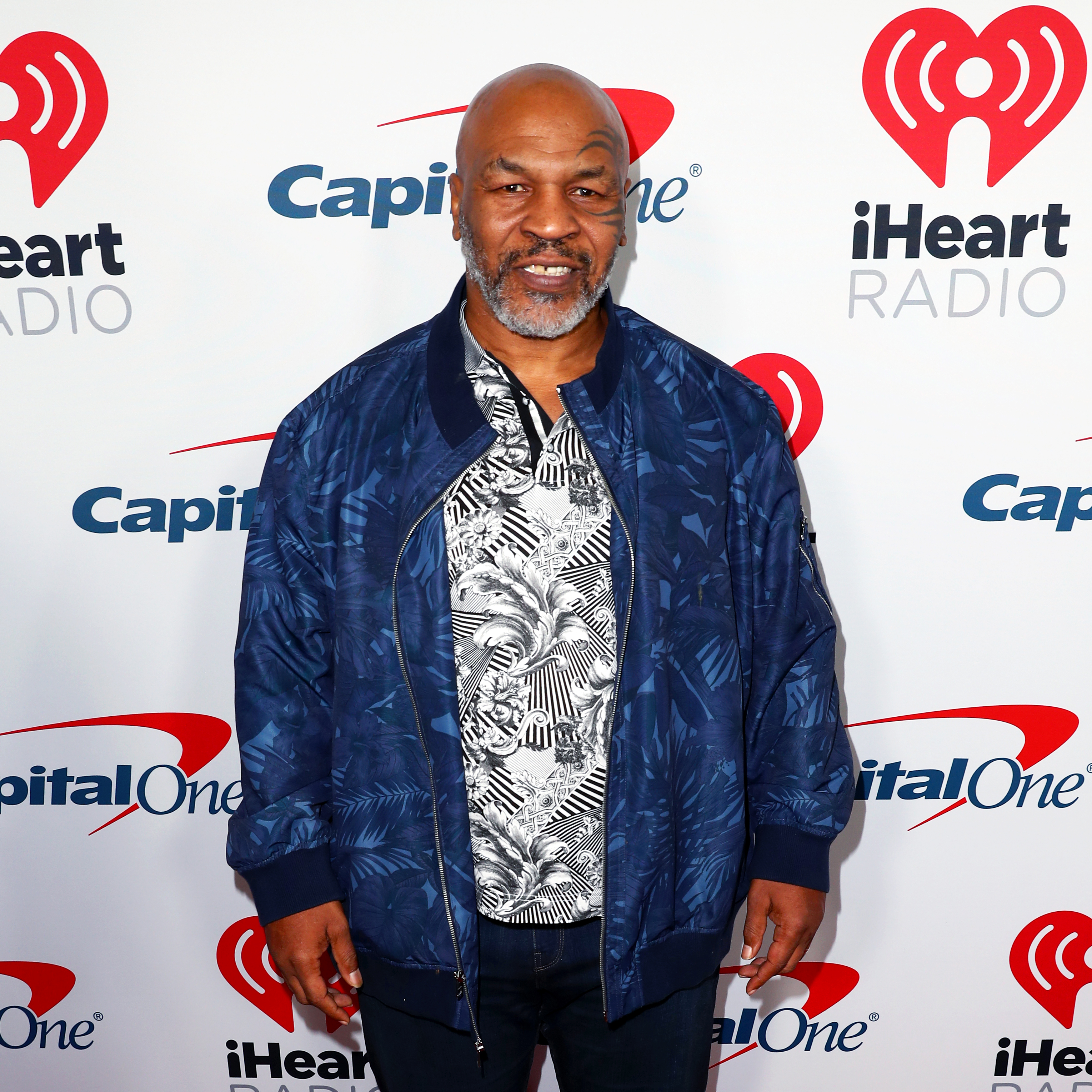 Mike Tyson arrives at the 2019 iHeartRadio Podcast Awards Presented by Capital One at the iHeartRadio Theater LA on January 18, 2019 in Burbank, California. (Photo by Joe Scarnici/Getty Images for iHeartMedia)