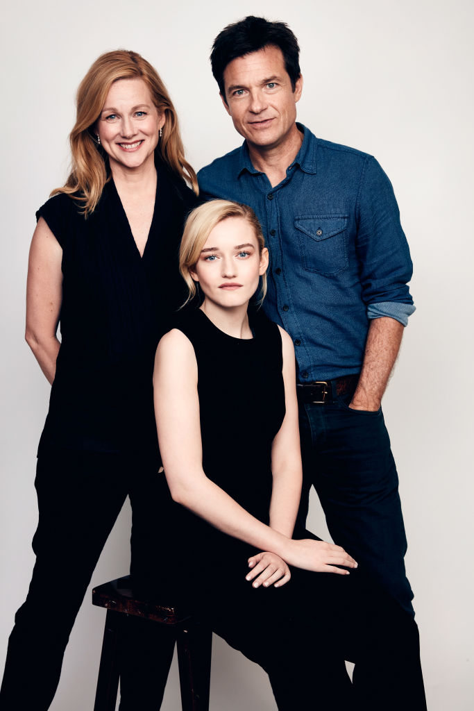 Laura Linney, Julia Garner, and Jason Bateman of Netflix's 'Ozark' pose for a portrait during the 2018 Summer Television Critics Association Press Tour at The Beverly Hilton Hotel on July 29, 2018 in Beverly Hills, California. (Photo by Robby Klein/Getty Images)