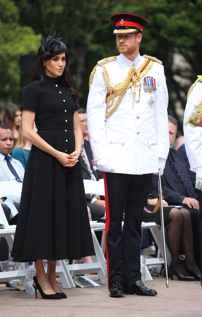 Prince Harry, Duke of Sussex and Meghan, Duchess of Sussex attend the Official opening of ANZAC Memorial in Hyde Park, on October 20, 2018 in Sydney, Australia (Getty Images)