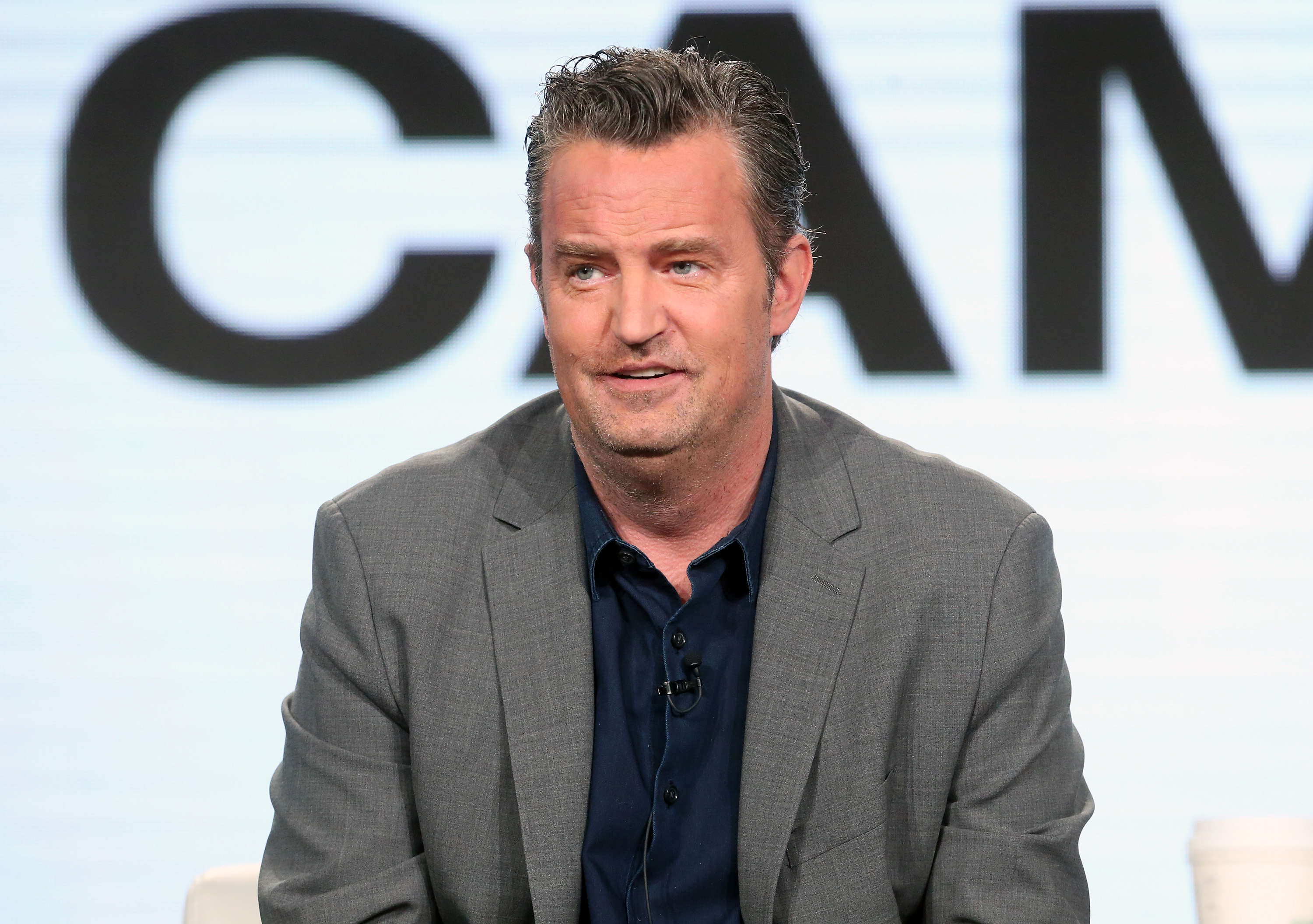 Actor Matthew Perry of the television show 'The Kennedys - After Camelot' speaks onstage during the REELZChannel portion of the 2017 Winter Television Critics Association Press Tour at the Langham Hotel on January 13, 2017 in Pasadena, California