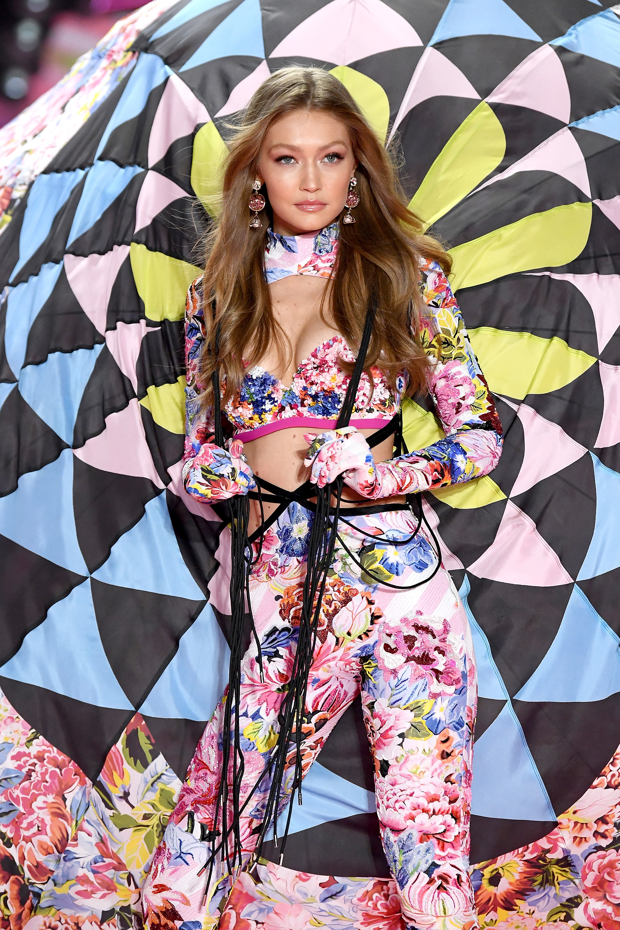 Gigi Hadid walks the runway during the 2018 Victoria's Secret Fashion Show at Pier 94 on November 8, 2018, in New York City. (Getty Images)