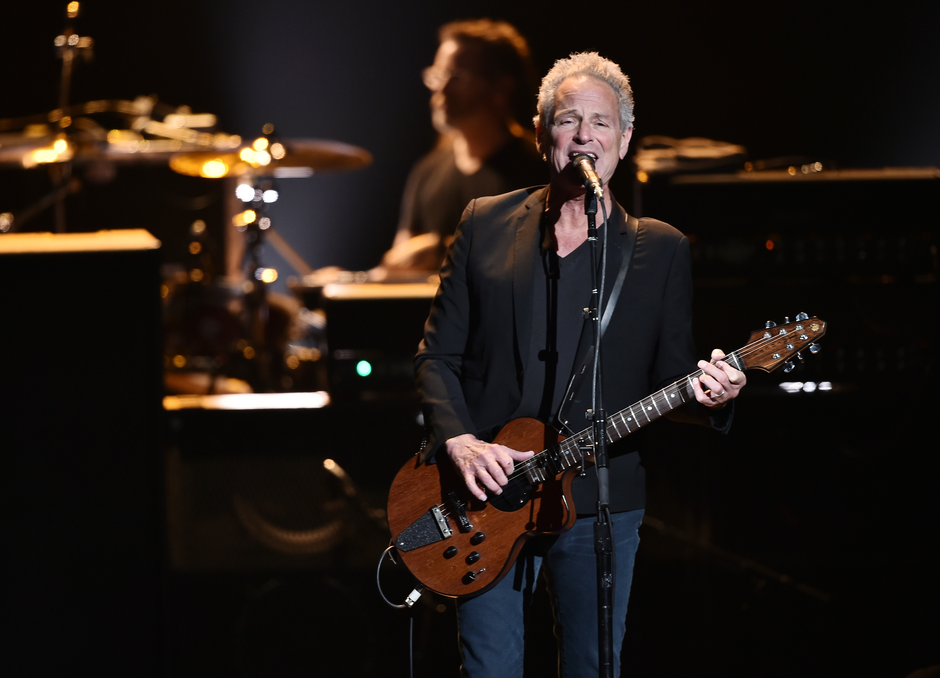 Lindsey Buckingham performs with Fleetwood Mac during MusiCares Person of the Year honoring Fleetwood Mac at Radio City Music Hall on January 26, 2018 in New York City. (Image Source: Getty Images)