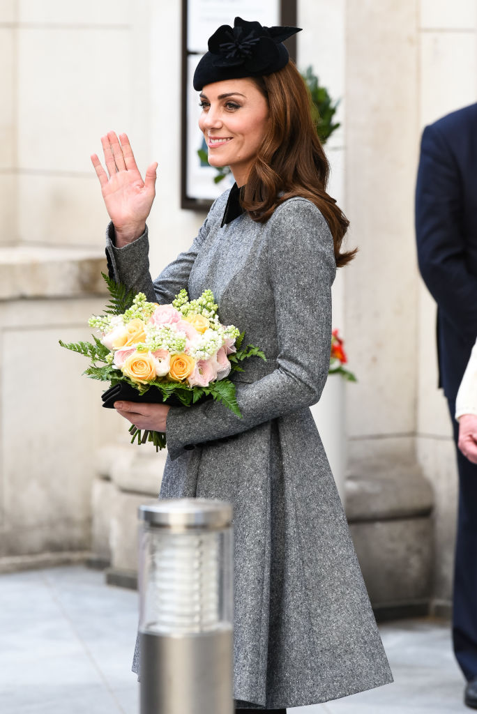 Catherine, Duchess of Cambridge visits King's College London on March 19, 2019 in London, England to officially open Bush House, the latest education and learning facilities on the Strand Campus. (Photo by Joe Maher/Getty Images)