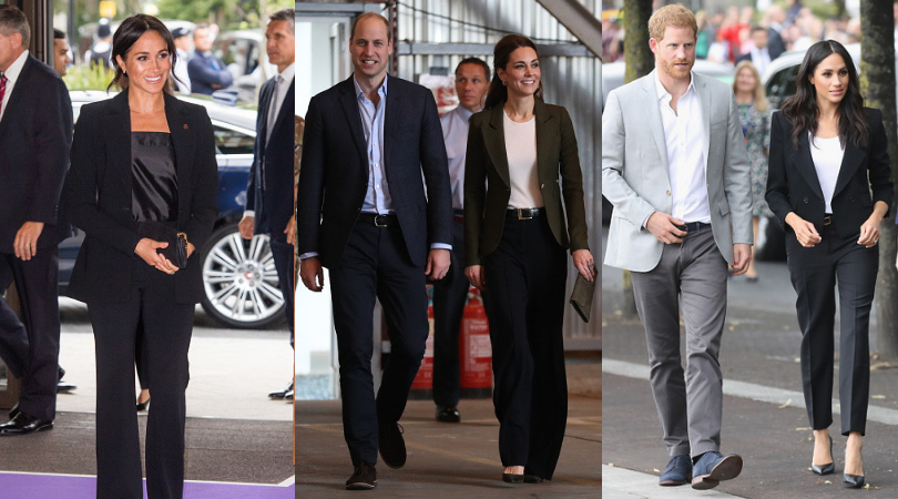 Recently, Kate took a leaf out of Meghan's style book. (Getty Images)
