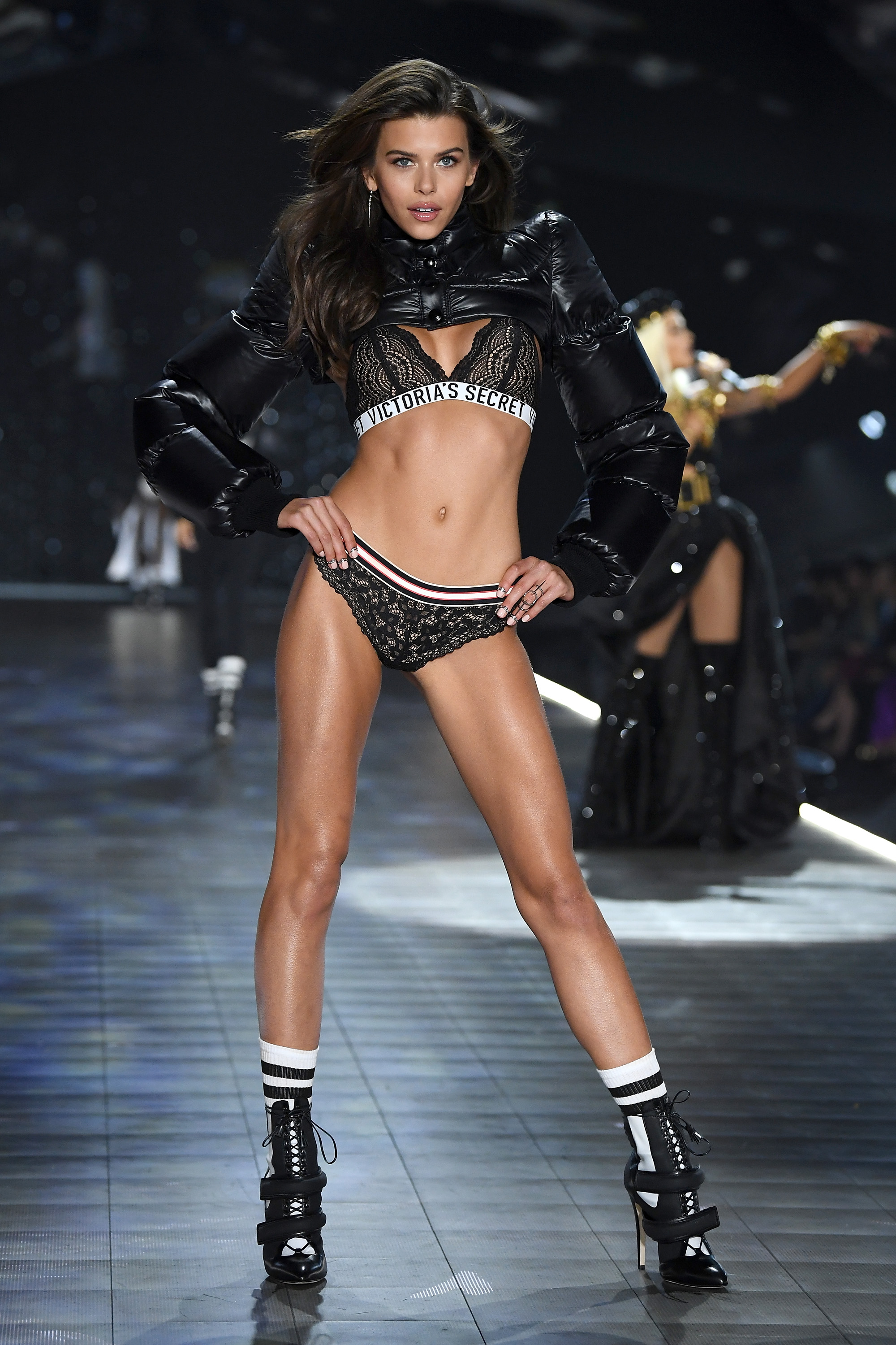 Georgia Fowler walks the runway during the 2018 Victoria's Secret Fashion Show at Pier 94 on November 8, 2018, in New York City. (Getty Images)