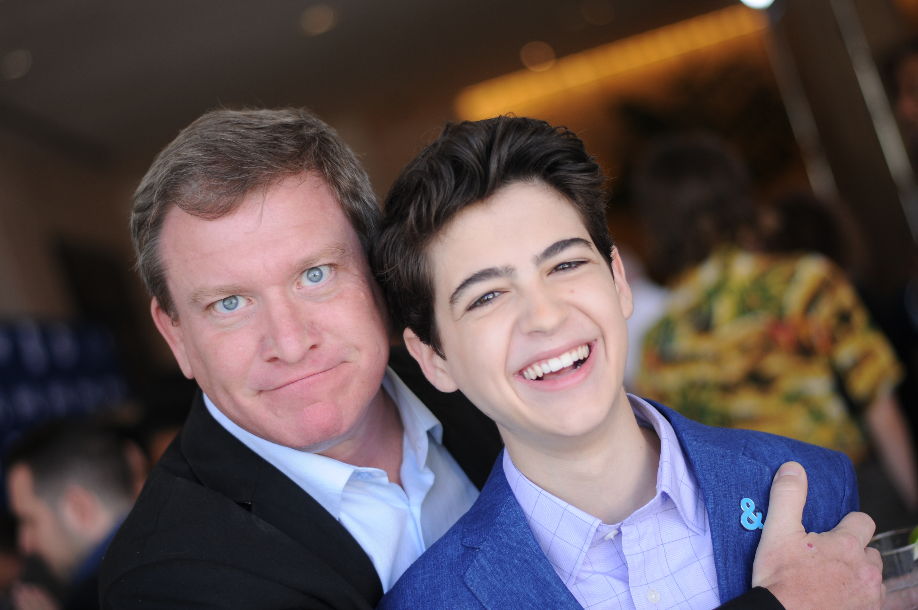 Stoney Westmoreland and Joshua Rush attend Rising Stars at the GLAAD Media Awards Los Angeles at The Beverly Hilton Hotel on April 11, 2018 in Beverly Hills, California.