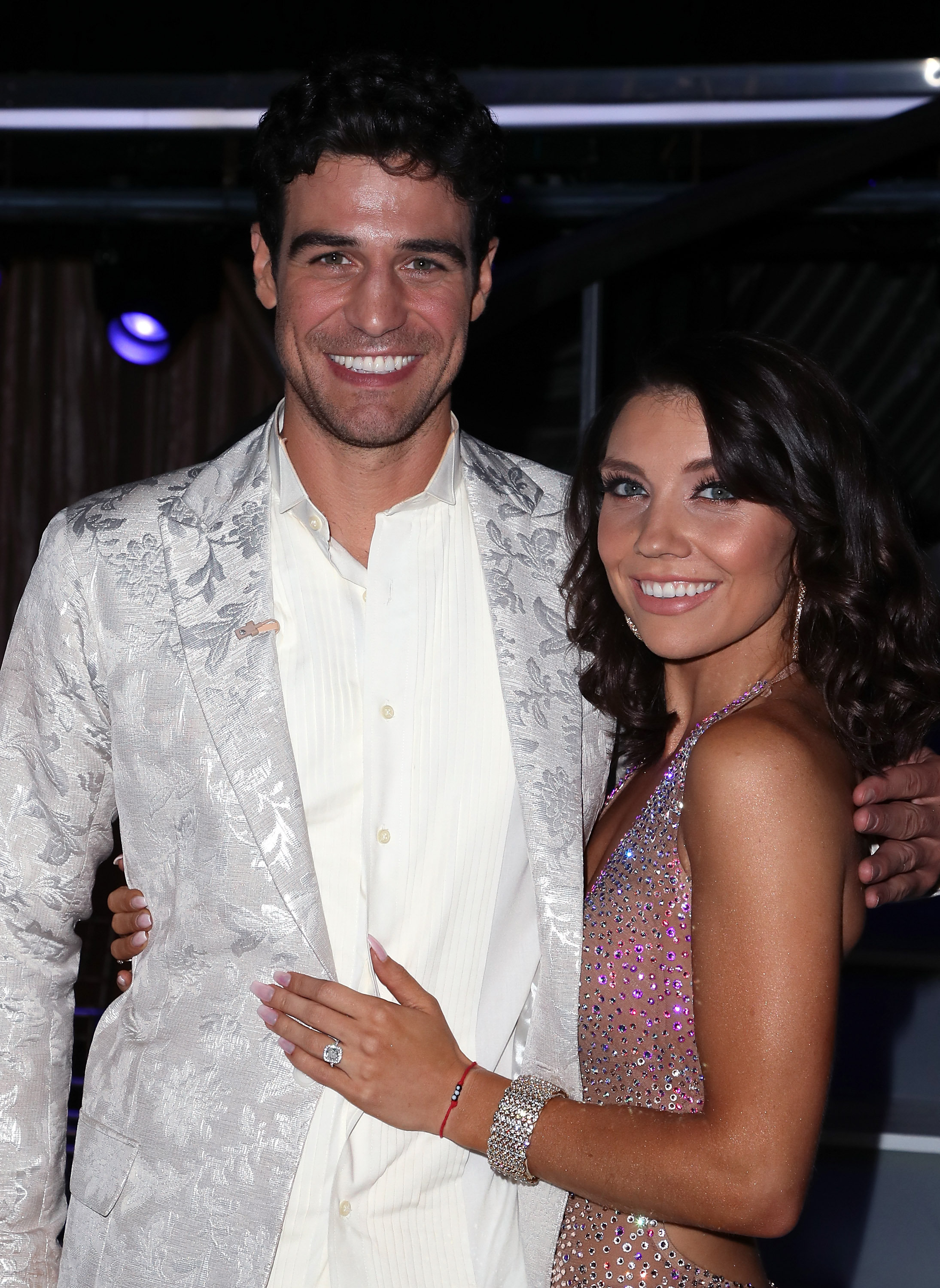 Joe Amabile (L) and Jenna Johnson pose at 'Dancing with the Stars' Season 27 at CBS Television City on September 24, 2018 in Los Angeles, California.