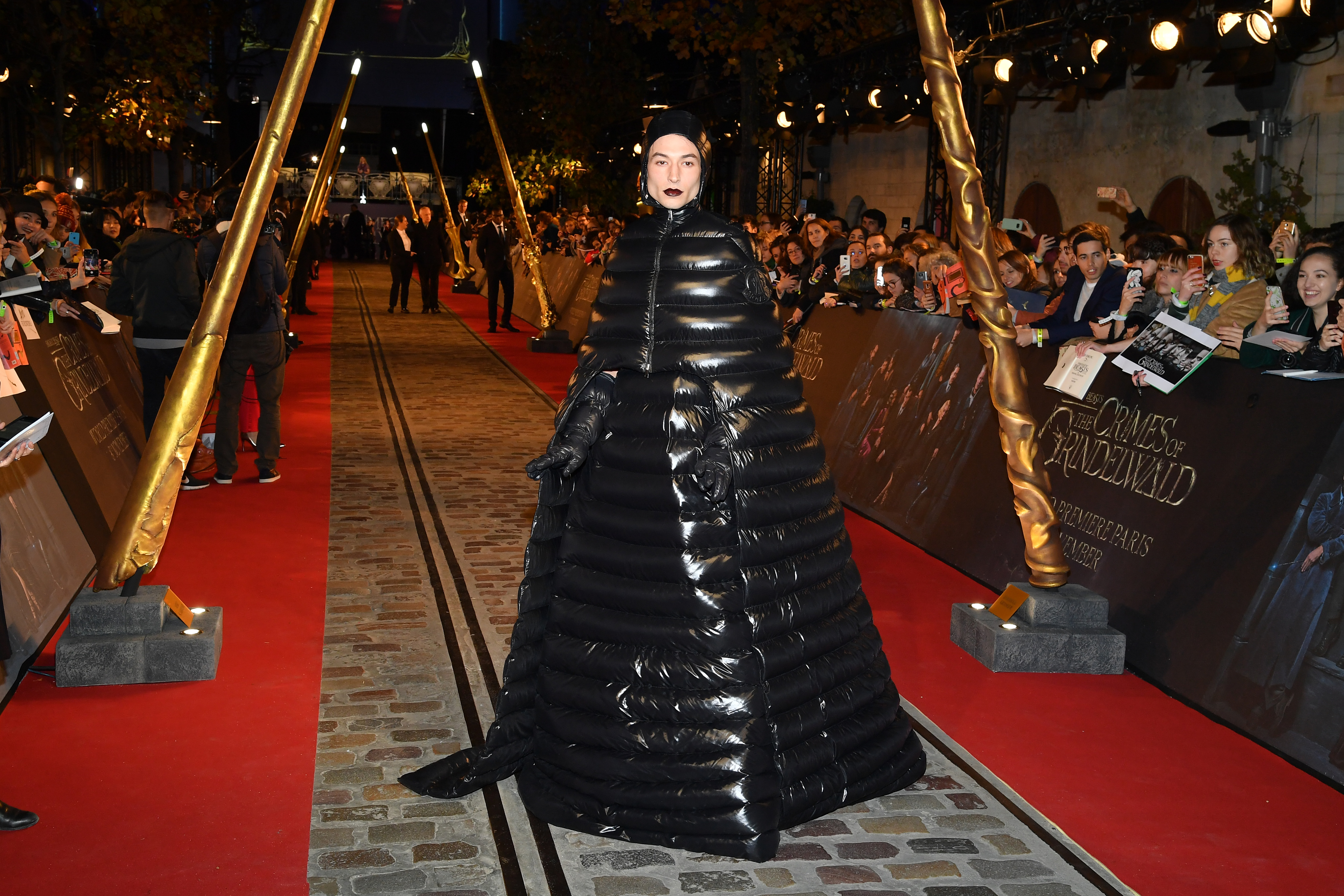 Ezra Miller attends 'Fantastic Beasts: The Crimes Of Grindelwald' World Premiere at UGC Cine Cite Bercy on November 8, 2018, in Paris, France. (Getty Images)