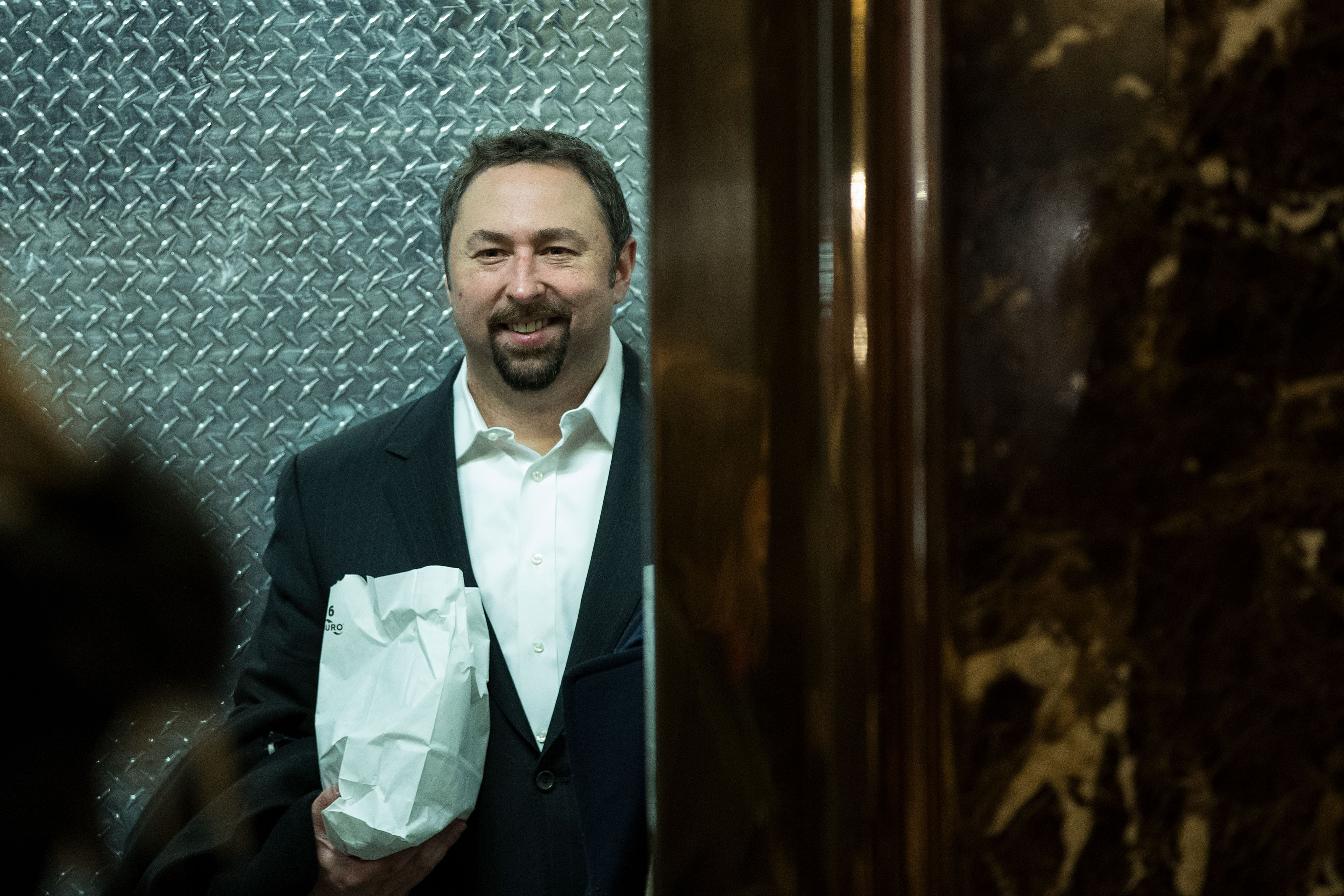 Jason Miller, communications director for the Trump transition team, arrives at Trump Tower, December 8, 2016, in New York City (Getty Images)