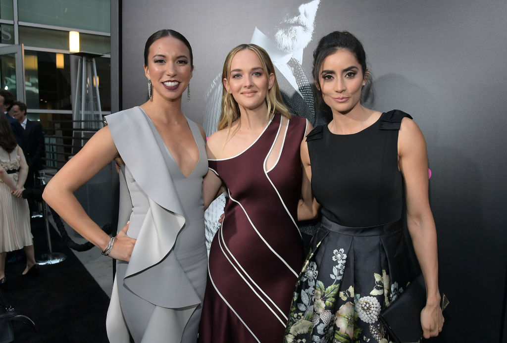 (L-R) Elizabeth Frances, Jess Weixler and Paola Nunez attend AMC's 'The SON' premiere at ArcLight Hollywood on April 3, 2017 in Hollywood, California. (Photo by Charley Gallay/Getty Images for AMC)