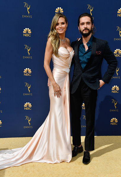 Heidi Klum (L) and Tom Kaulitz attend the 70th Emmy Awards at Microsoft Theater on September 17, 2018 in Los Angeles, California. (Photo by Frazer Harrison/Getty Images)
