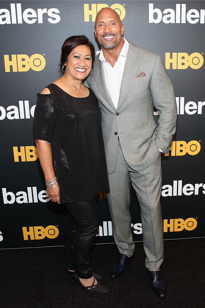 Ata Johnson and Dwayne Johnson (Source: Getty Images)