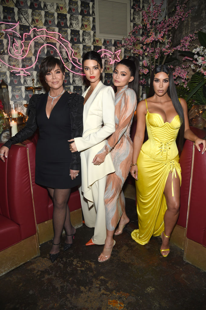 Kris Jenner, Kendall Jenner, Kylie Jenner, and Kim Kardashian in New York City on May 8 (Getty Images)
