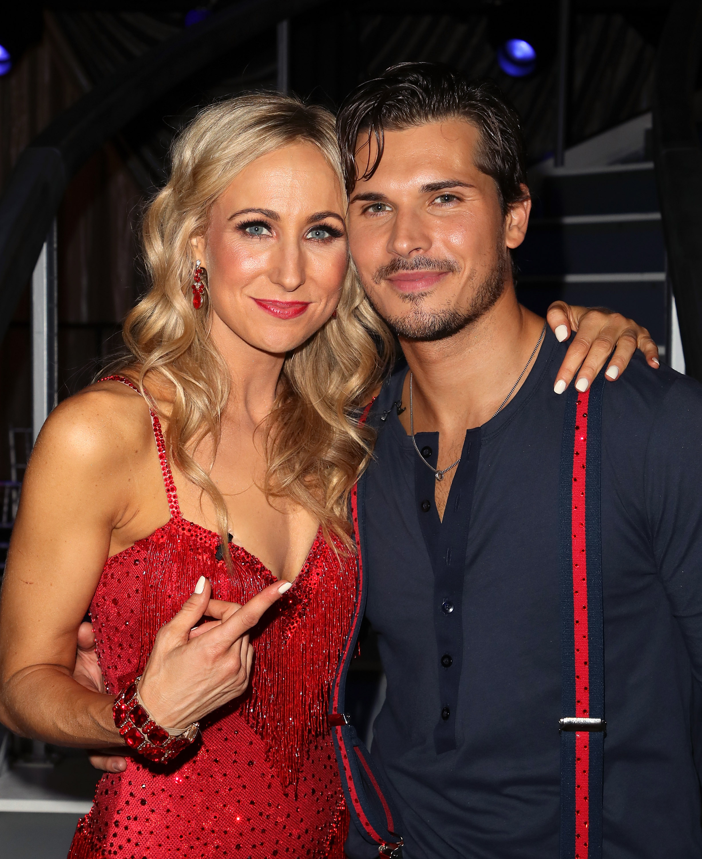Nikki Glaser (L) and Gleb Savchenko pose at 'Dancing with the Stars' Season 27 at CBS Televison City on September 24, 2018 in Los Angeles, California.