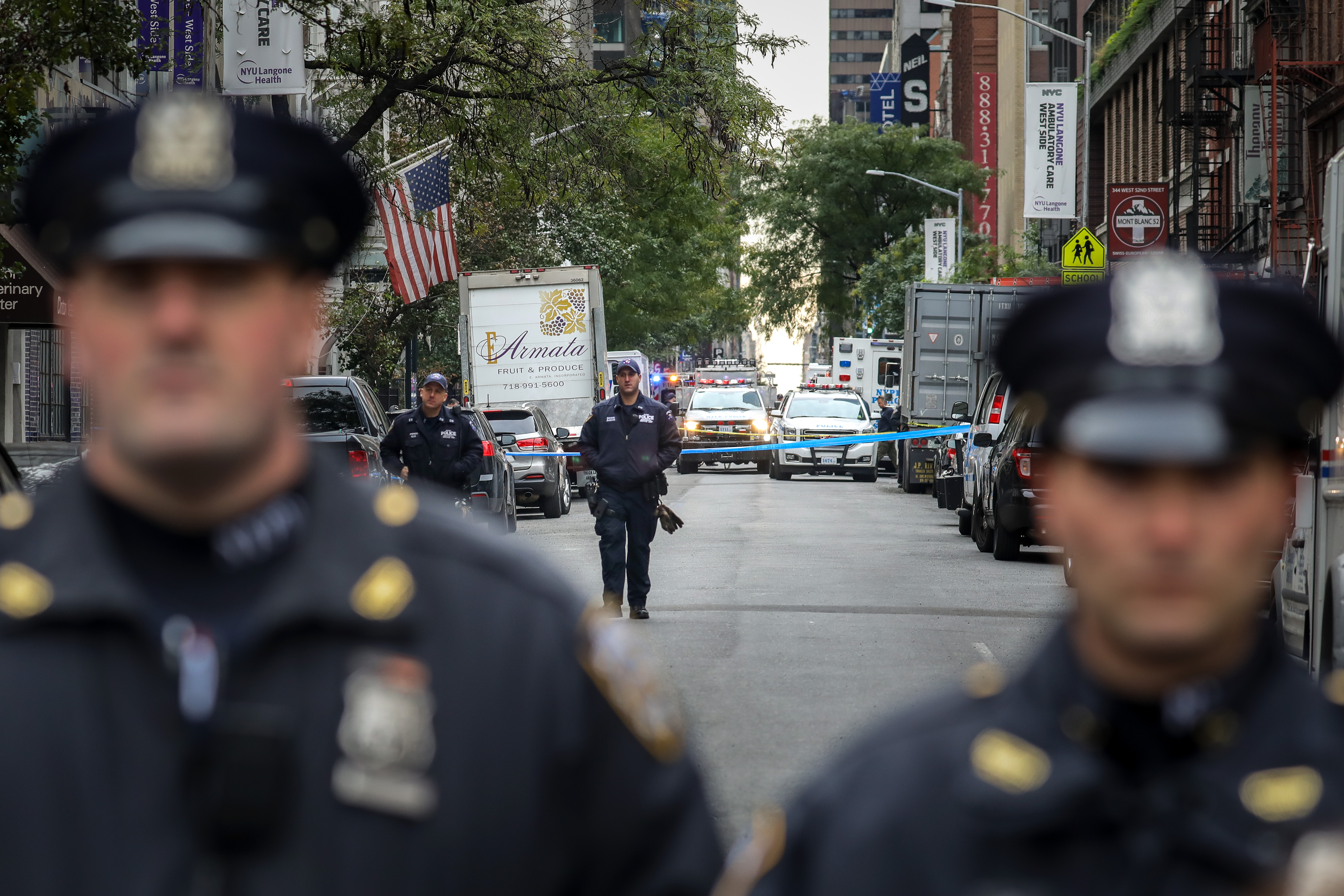NYPD officials tighten security around mosques across Manhattan, New York City in wake of New York City terror attacks. (Getty Images)