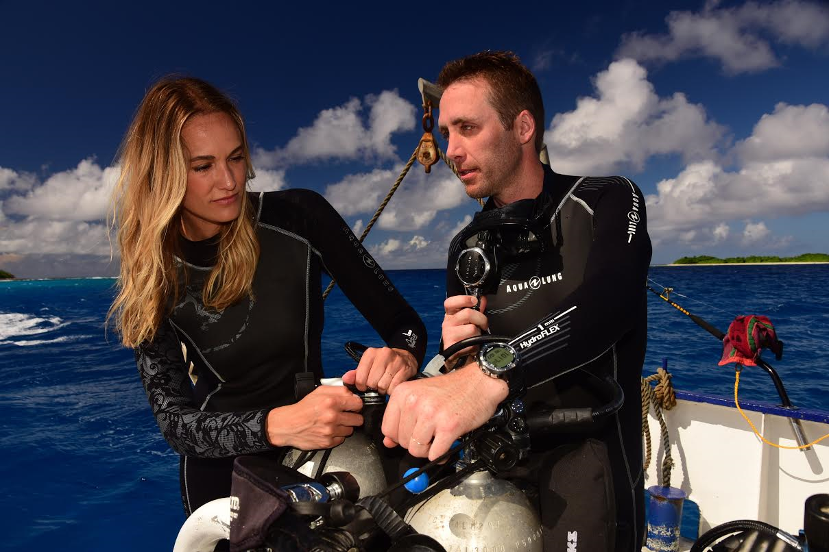 Ashlan and Philippe. Photo Courtesy: Ashlan Cousteau